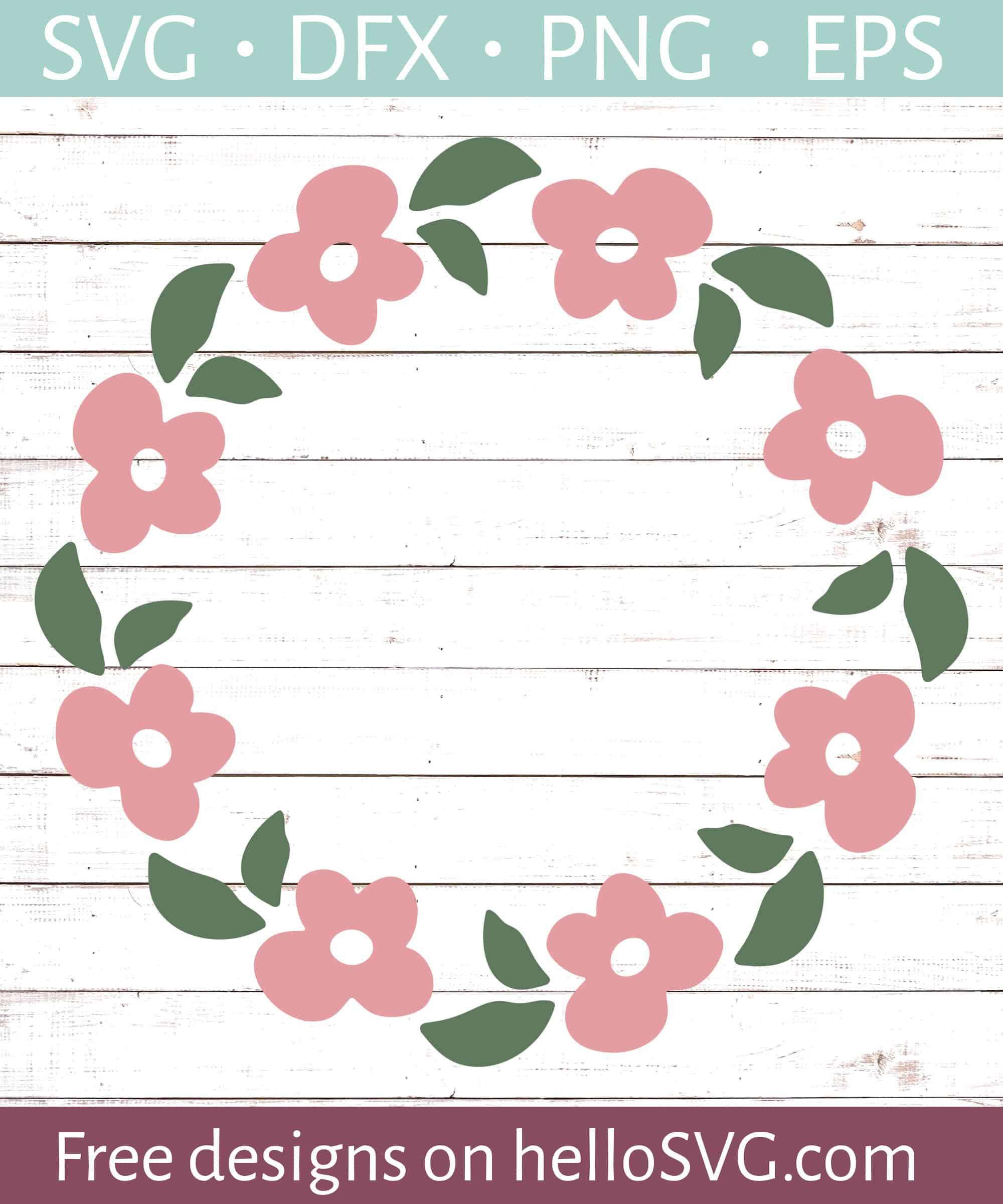 Floral Wreathe Monogram Frame 2 Svg Free Svg Files Hellosvg Com