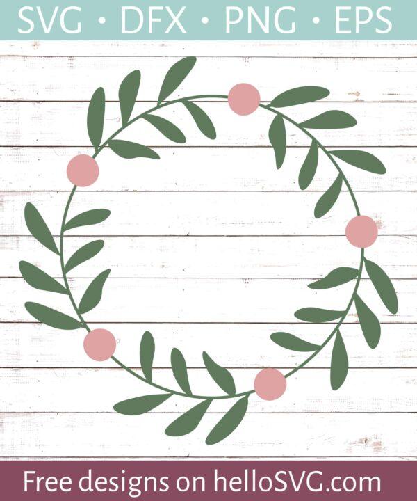 Floral Wreathe Monogram Frame #4