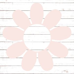 Flower Circle Monogram Frame #2