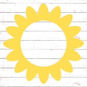 Flower Circle Monogram Frame #3