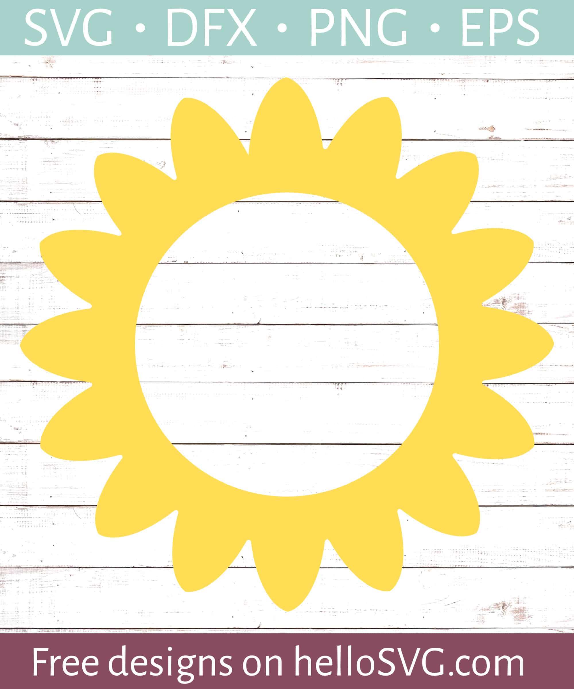 Flower Circle Monogram Frame 3 Svg Free Svg Files Hellosvg Com