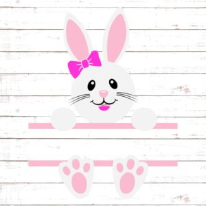 Easter Bunny Monogram For Girls #2