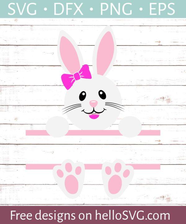 Easter Bunny Monogram For Girls #2
