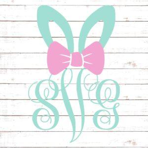 Easter Bunny Monogram For Girls #1