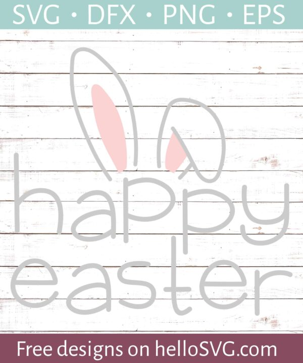 Happy Easter With Bunny Ears